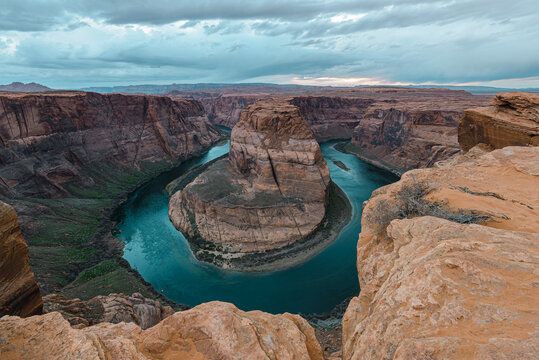 Horseshoe Bend, meander of Colorado River in Page, Arizona, USA