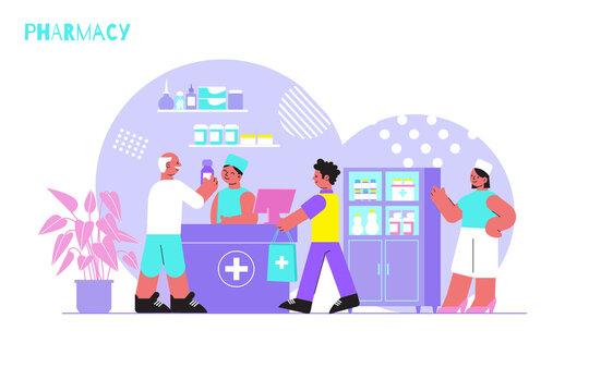 Pharmacy Flat Background