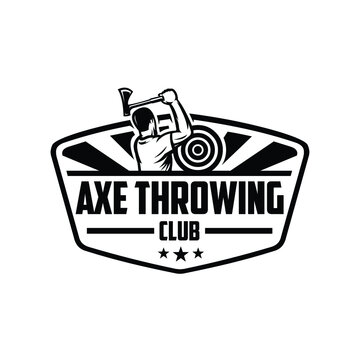 axe throwing club logo template