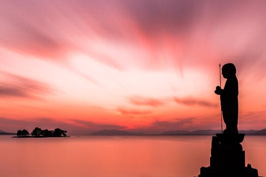 夕暮れ時の宍道湖。他に何もいらない。