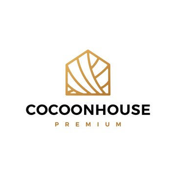 cocoon house logo vector icon illustration