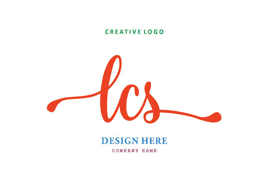 LCS lettering logo is simple, easy to understand and authoritative