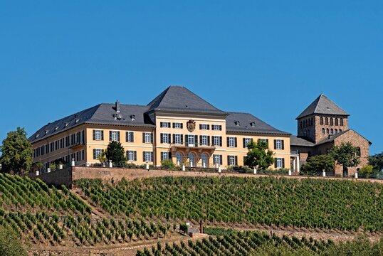 Schloss Johannisberg in Geisenheim im Rheingau, Hessen in Deutschland