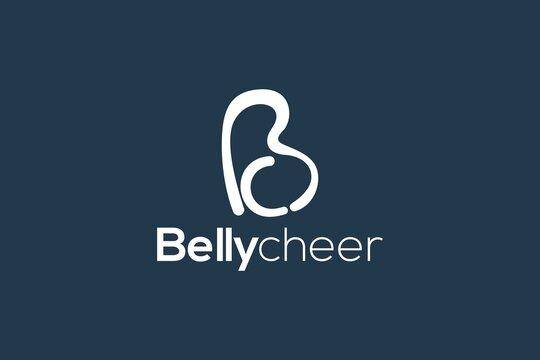 b, c monogram logo design template