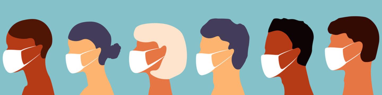 People in a medical mask. Coronavirus epidemic concept. Vector illustration.Banner for social networks, blogs, news. Stock vector EPS 10