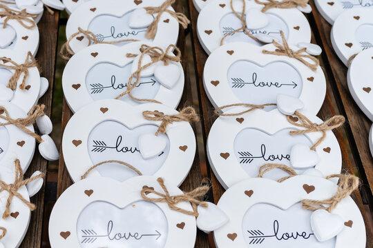 decorative love hearts for wedding decoration