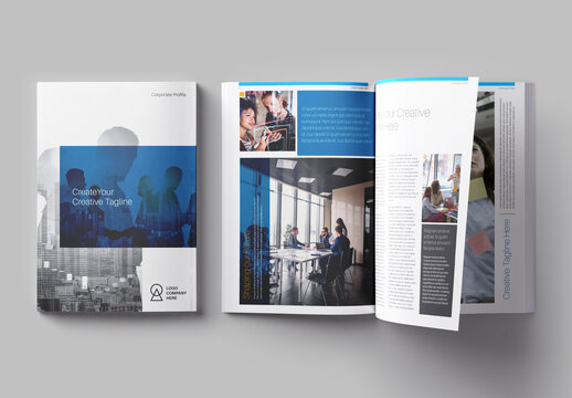 Blue and Gray Corporate Profile