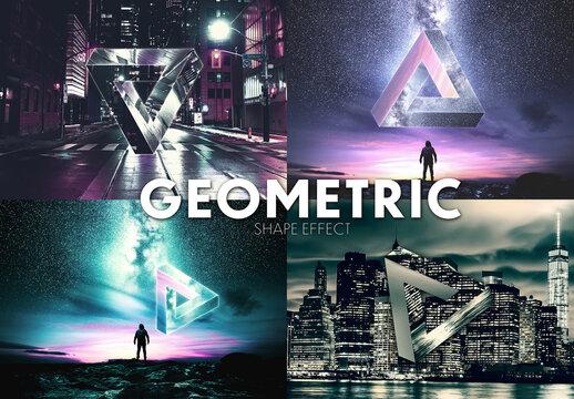 Geometric Impossible Triangle shape Effect