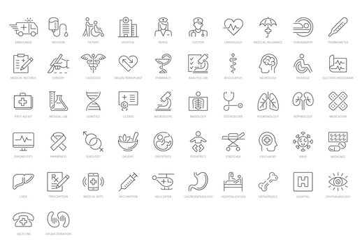Health Care and Medical Icon Set