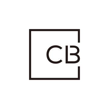 Creative initial letter CB square logo design concept vector