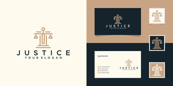 Law firm logo template and business card