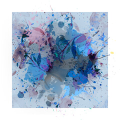 abstract watercolor background with watercolor splashes