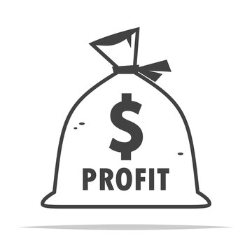 Bag of profit icon transparent vector isolated