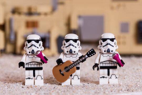 Lippstadt - Deutschland 3. Januar 2021 Lego Minifiguren aus Star Wars