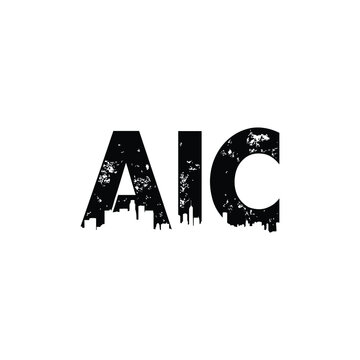 AIC  Letter logo template design .