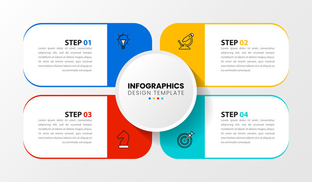 Infographic design template. Creative concept with 4 steps
