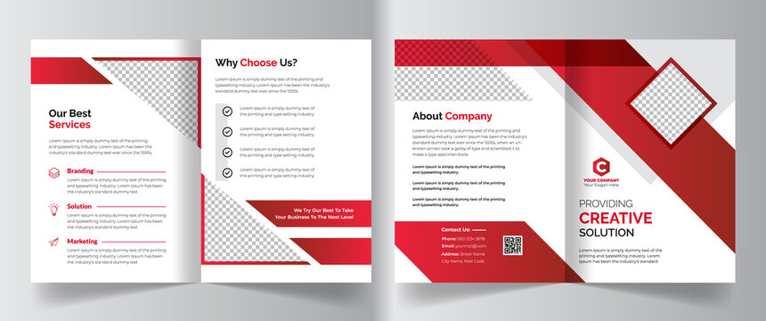 Creative colorful corporate business bifold brochure template design for creative, corporate company bifold leaflet, magazine, annual report, booklet, business plan, print & promotion