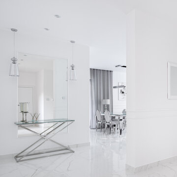 White corridor in villa