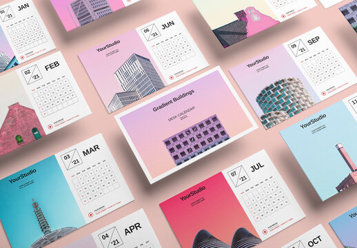 Colorful 2021 Calendar Layout