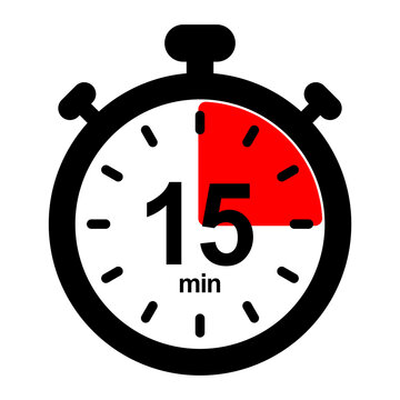 nswi15 NewStopWatchIcon nswi - english - timer and stopwatch icon. - countdown timer. - 15 minutes - simple black pictogram - xxl e10087