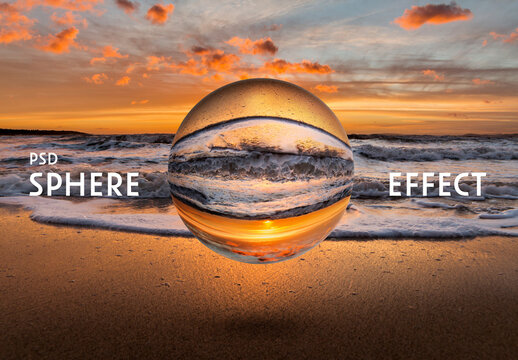 Sphere Photography Effect Mockup