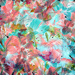 abstract watercolor background with watercolor