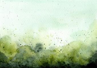 Fototapeta green abstract watercolor texture background obraz