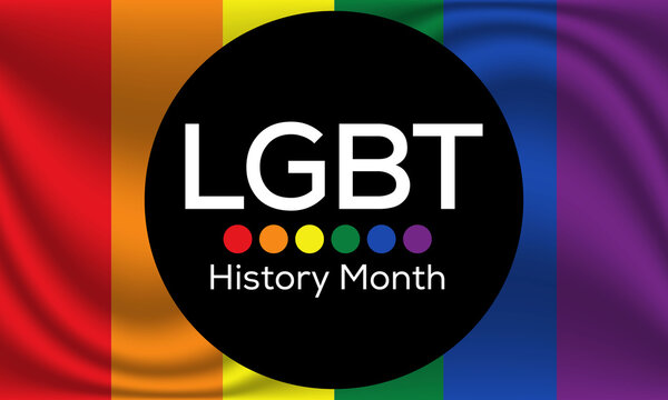 Vector illustration on the theme of LGBTQ History month observed each year during February.