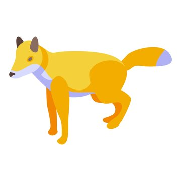 Wild fox icon. Isometric of wild fox vector icon for web design isolated on white background