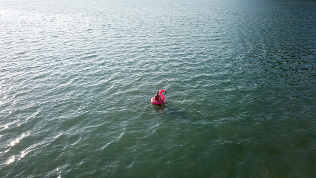 View of an alone swimmer, in Trat province, Koh Chang island