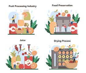 Fruit farming industry. Idea of agriculture and cultivation. Organic harvest
