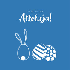 Obraz Wielkanocne życzenia Święta Wesołego Alleluja tekst - fototapety do salonu