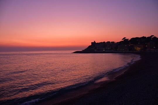 Genova Tramonto sul Mare