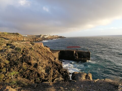 cliffs of moher at sunset, Adeje, canary Islands.