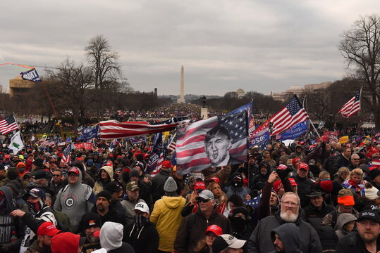 Supporters of U.S. President Donald Trump protest in Washington