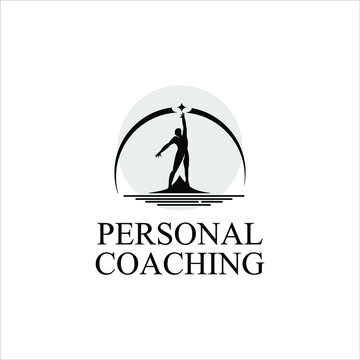 life coaching logo design personality development and training support template