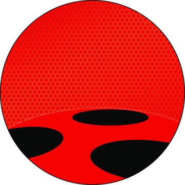 Texture Alverare Coccinella Rosso