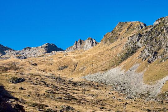 Col de la Madeleine at 2000 m altitude, Rhone alps, France