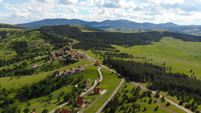 Landscape with sky and clouds, Zlatibor - Serbia