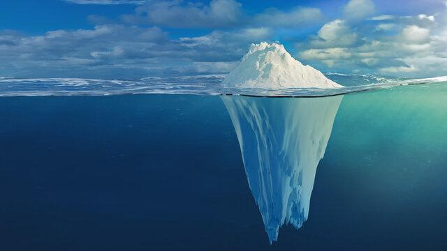 Illustration eines Eisbergs
