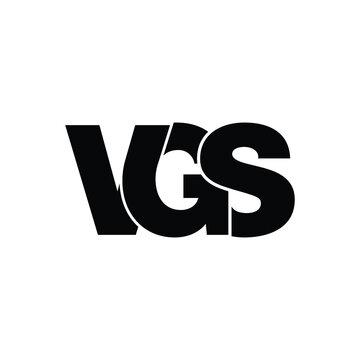 VGS letter monogram logo design vector