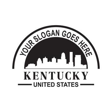 kentucky skyline silhouette vector logo