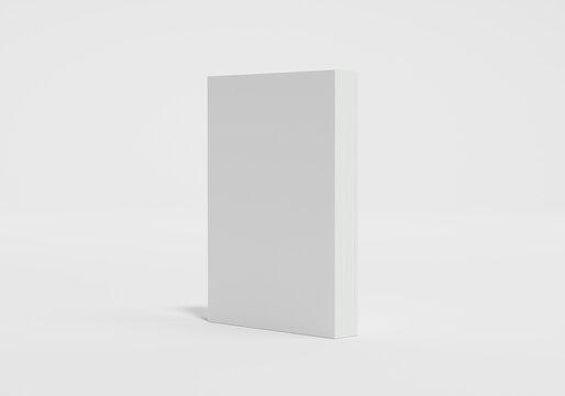 softcover book with blank cover isolated. 3d Render