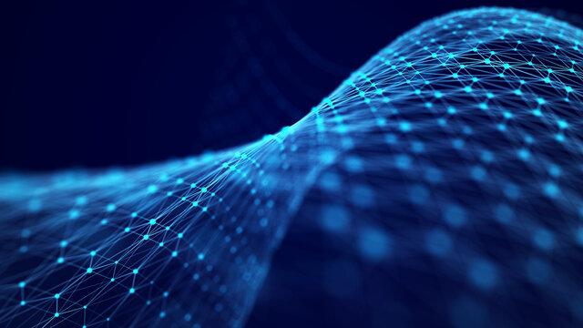 Information Technology. Digital background. 3D visualization of big data. 3d rendering.