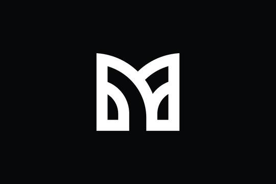 MY logo letter design on luxury background. YM logo monogram initials letter concept. MY icon logo design. YM elegant and Professional letter icon design on black background. M Y YM MY