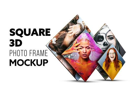 Square Photo Frame Mockup