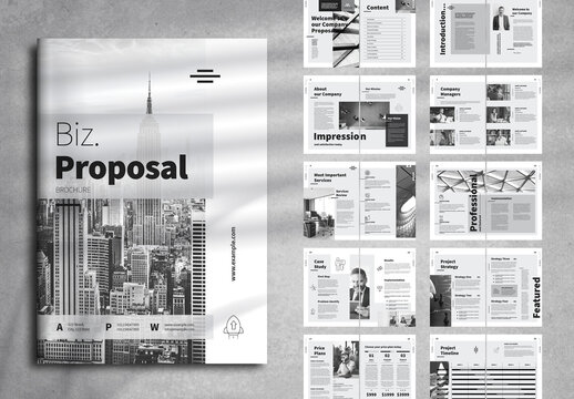 Clean Business Proposal Layout