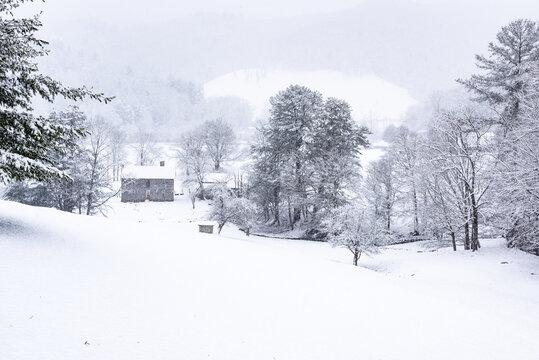 Western North Carolina after a snowstorm.