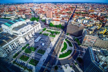 Wall Murals Milan High Angle View Of City