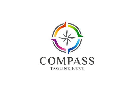 colorful compass logo